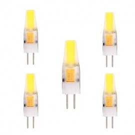 5PCS G4 2W 1505 COB 150-200LM Warm White/Cool White Decorative / Waterproof LED Bi-Pin Lights (AC/DC 12-24V)