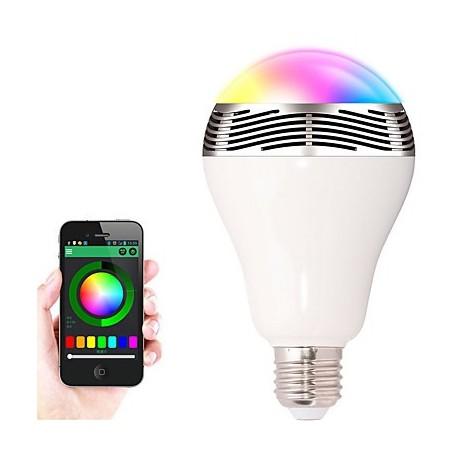E27//E26 Bluetooth Control Music Audio Speaker Smart LED Color Bulb Light Lamp