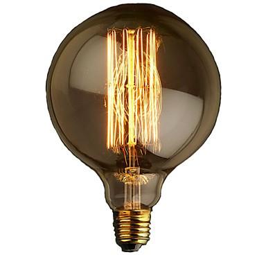 E27 40w G125 Straight Wire Large Bulb Edison Retro Decorative Light Bulbs