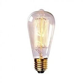 ST58 60W E27 Vintage Retro Incandescent Filament Edison Lamp Bulb(AC220-240V)