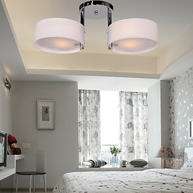 Max 60W Modern Contemporary Chrome Metal Chandeliers Flush Mount Living Room Bedroom