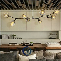 Art Glass Ball Hanging Branches Hanging Room Dining Room Dining Room