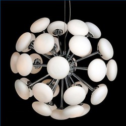 ModernYestaurant Lamp Simple Circular Glass art Pendant Lamp European Style led 33