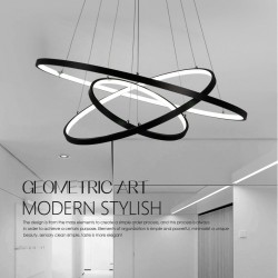 90W Pendant Light Modern Design/ LED Three Rings/ 220V~240/100~120V/Special for office,Showroom,Living Room