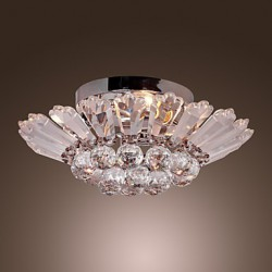 Modern Semi Flush Mount in Crystal Feature