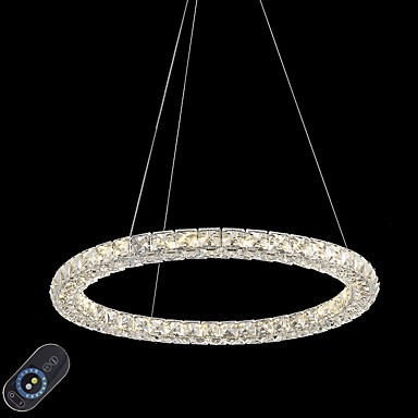 Modern Ring Crystal Ceiling Pendant Lights Led Chandeliers Light Indoor Lighting Lamps Fixtures Dimmable With