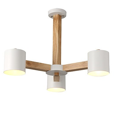 3 Lights Chandelier Modern Contemporary Traditional Clic Vintage Country Wood Feature For Led Living Room Bedroom Dining