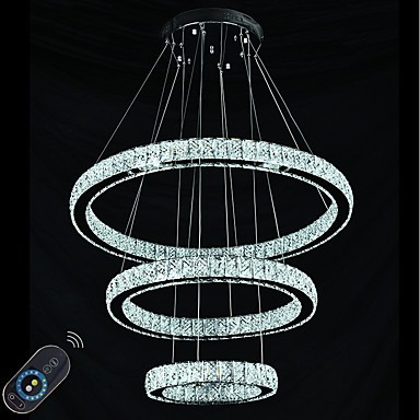 Dimmable Led Lighting Indoor Modern Ceiling Pendant Light Chandeliers Fixtures With Remote Control