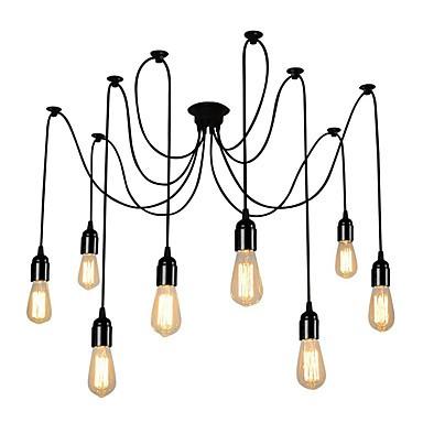 Vintage Multiple Light Adjule Diy Ceiling Spider Pendant Lighting Living Room Dining Chandelier Creative Suspension Lamp