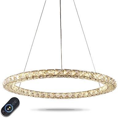 Led Ring Crystal Pendant Light Modern