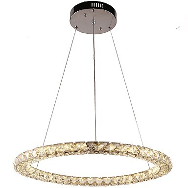 Led Ring Crystal Pendant Light Modern Chandeliers Ceiling Lights Indoor Lamp Fixtures Dimmable With Remote