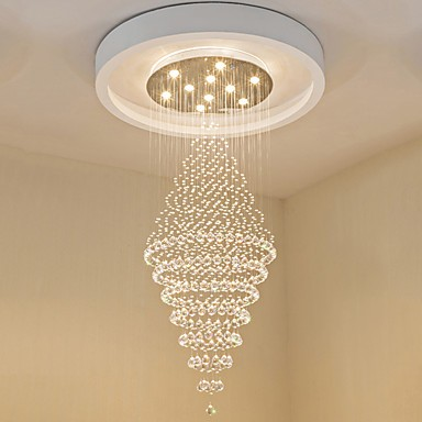 Contemporary Led Crystal Ceiling Pendant Lights Modern Chandeliers Home Hanging Lighting Chandelier Lamps Fixtures