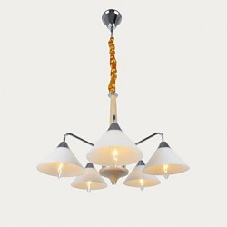 5 Light Modern/Contemporary Chandelier for Study Room/Office, Dining Room, Bedroom, Living Room