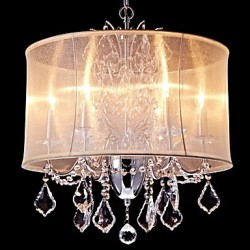 Modern/Contemporary Traditional/Classic Country Chrome Feature for Crystal Mini Style Designers MetalLiving Room Bedroom Chandelier