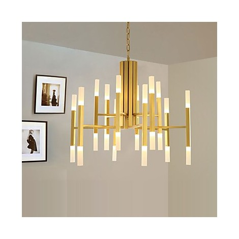 Led Chandelier Modern Contemporary Painting Feature Gold