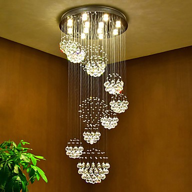 Led Crystal Ceiling Pendant Lights Modern Chandeliers Home Hanging Lighting Chandelier Lamps Fixtures