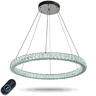 Dimmable Led Ring Ceiling Pendant Lights Modern Chandeliers Lighting Indoor Light Lamp With Remote Control