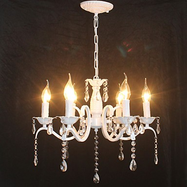 Chandelier Modern Crystal Mini Candle Style Iron Lamp Restaurant Study Office Children S Room Lamps