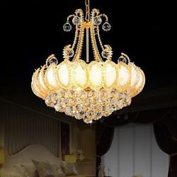Modern Luxury Chandeliers Crystal Living Room LED Pendant Light Diameter 50CM Contains 8 LED Bulbs