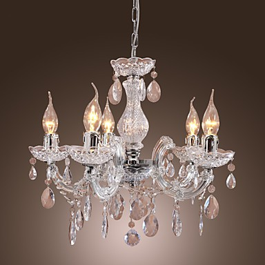 New upligh chrome ceiling lamp 5 candle light acrylic fixture new upligh chrome ceiling lamp 5 candle light acrylic fixture chandelier pendant aloadofball Image collections