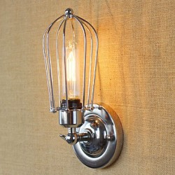 40W E26/E27 Simple Vintage Country Retro Electroplate Feature for Mini Style Bulb Included,Ambient Light Wall Sconces