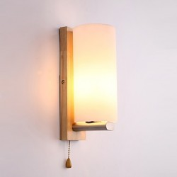 5 E27 Simple LED Novelty Country Feature for LED Mini Style Eye Protection Ambient Light Wall Sconces Wall Light Log Wood Bedroom Bedside Lamp
