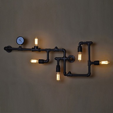 Loft Industrial Wall Lamps Antique Edison Wall Lights With Bulbs E26 E27 Vintage Pipe Wall Lamp For Living Room Lighting Lighting Pop