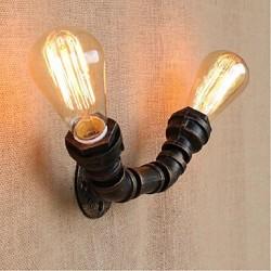40W E27 BG806-2 Nostalgia Simple Water Pipe Decorative Small Wall Lamp Wall Light