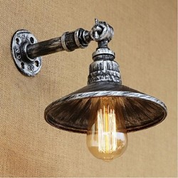 40W E27 Industrial Style Nordic Water Pipe Wall Lamp Wall Light-Silver