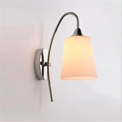 Modern Minimalist Glass Bedside Aisle Hotel Room Wall Lamp