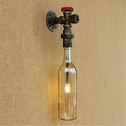 3W E27 Amber Water Wall Lamp With Switch Wall Light