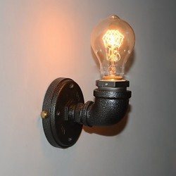 Simple Retro Industrial Iron Pipe Decorative wall lamp Wall Fixture
