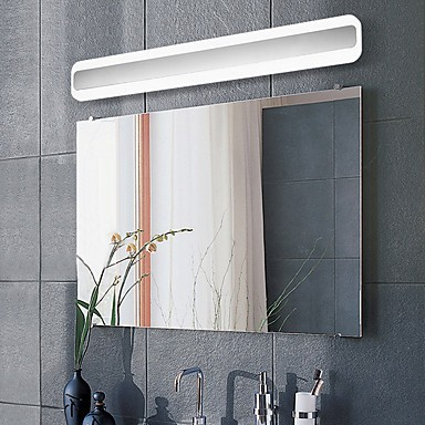 24 Led Integrated Modern Contemporary Chrome Feature For Bulb Included Ambient Light Bathroom Lighting Wall