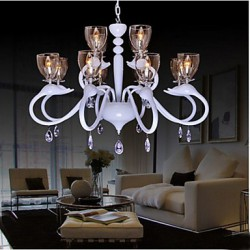 European Style Crystal Droplight Individuality Creative Swan Hotel 12