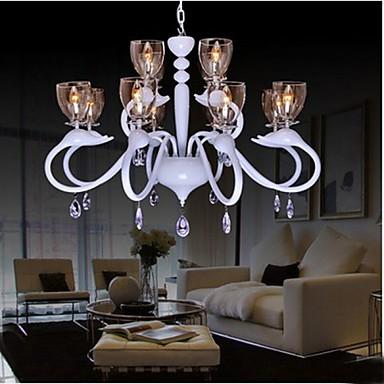 European Style Crystal Droplight Individuality Creative Swan Hotel 12