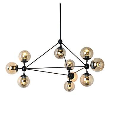 Chandeliers 10 Lights/Glass Ball Lights/ Retro Living Roo / Hallway / Outdoors / Garage Metal