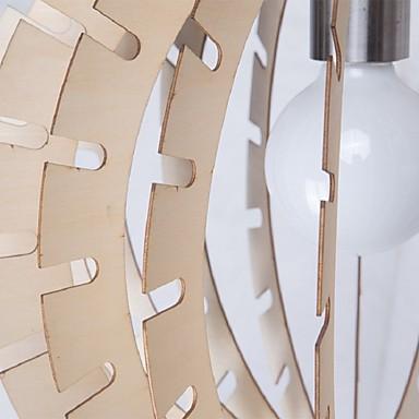 12W Vintage LED Others Wood Chandeliers Living Room / Bedroom / Dining Room / Study Room/Office / Hallway