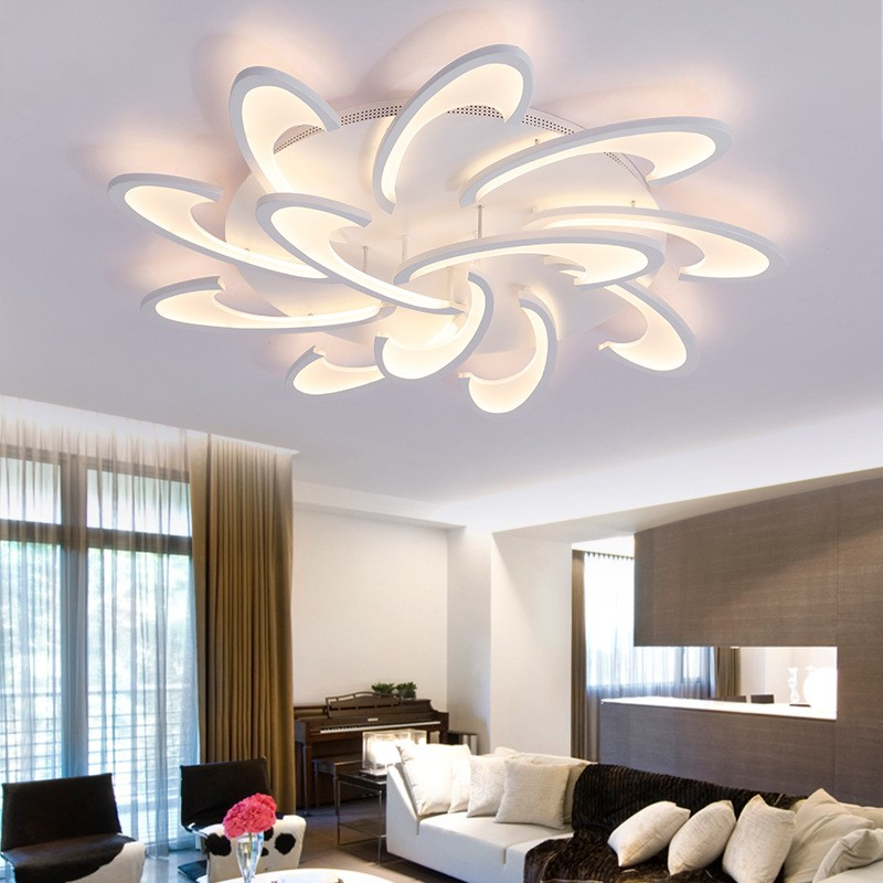 Acrylic Flush Mount High Quality New Modern Led Ceiling Light For Living Room Bedroom Dining Study Office Metal