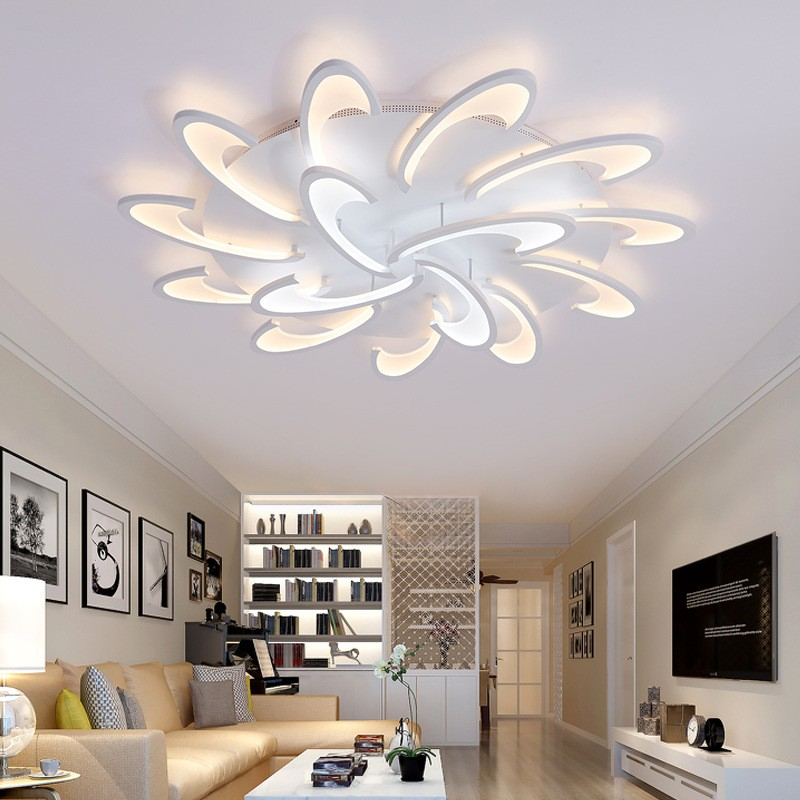 Acrylic Flush Mount High Quality New Modern LED Ceiling Light for Living  Room / Bedroom / Dining Room /Study Room/Office Metal