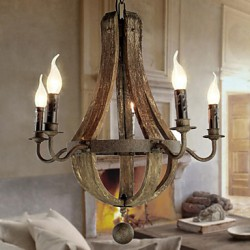 Chandelier/5 lights/Vintage/Retro/Country Living/Dining/Kitchen/Study/Office/Entry/Hallway/Metal
