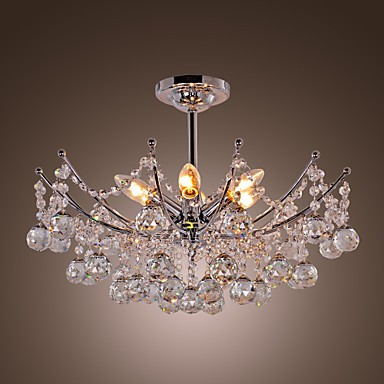 Luxuriant Crystal Chandelier with 6 Lights
