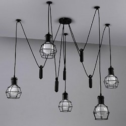 MAX 60W Traditional/Classic / Vintage / Retro / Lantern / Country Mini Style Painting Metal Pendant LightsLiving Room / Bedroom / Dining