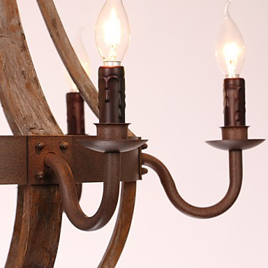 Chandelier/6 lights/Vintage/Retro/Country Living/Dining/Kitchen/Study/Office/Entry/Hallway/Garage Metal