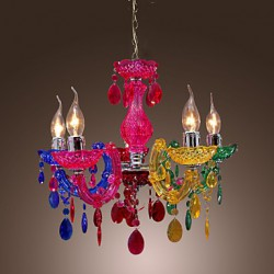 Max 40W Traditional/Classic Crystal Chrome Acrylic Chandeliers Living Room / Bedroom / Dining Room
