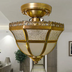 5 Traditional/Classic Mini Style / Bulb Included Brass Metal Flush Mount / Spot Lights Dining Room / Hallway