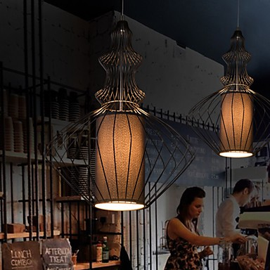Simple Style Metal Cage Chandelier