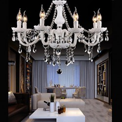 Chandeliers Crystal Modern 6 Lights /Contemporary Living Room/Bedroom/Dining Room/Office Glass