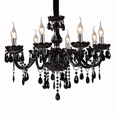 Max 40W Modern/Contemporary Crystal Electroplated Chandeliers Living Room