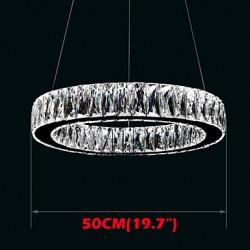Crystal LED Chandelier Lights Lighting Modern Single Rings D50CM K9 Large Crystal Indoor Ceiling Light Fixtures