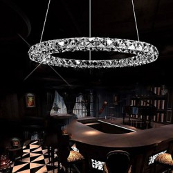 LED Crystal Pendant Light Lighting Modern Single D80CM Three Sides K9 Crystal Indoor Ceiling Lights Lamp Fixtures